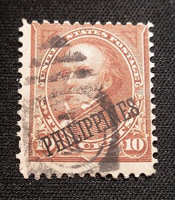 (F443) US Philippines overprint Webster 10c used NG