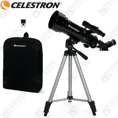 TELESCOPIO TRAVEL SCOPE 70 CELESTRON ASTRONOMIA 400mm + 2 OCULARI + ZAINO