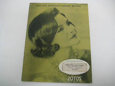 Vtg Hair Beauty Salon Booklet promotional appointment BOOK from ZOTOZ 1960s