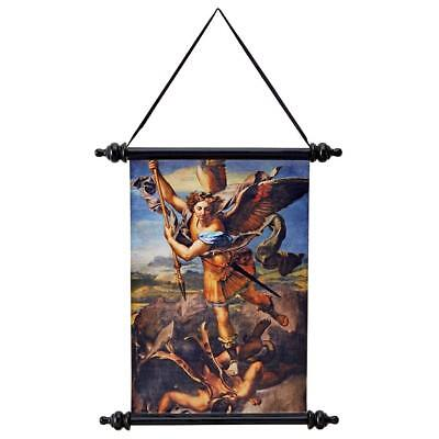 ARCHANGEL ST MICHAEL CANVAS SCROLL DESIGN TOSCANO Wall decor  wall art  wall art