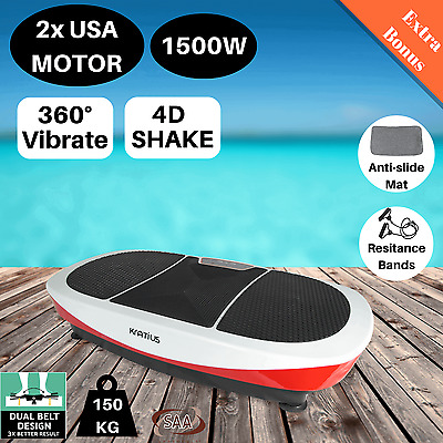 Vibration Machine Platform Fitness Plate Body Massager Trainer Shaper 360 Shake