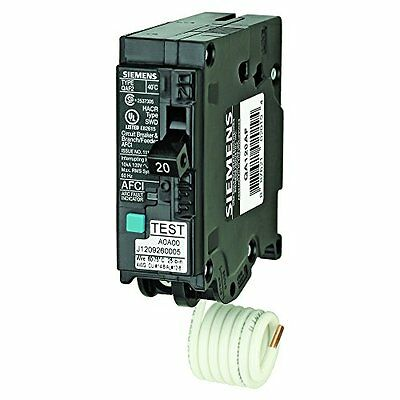 Siemens Q series Arc fault Breaker QA115AFC, CSA approved for use in Canada.