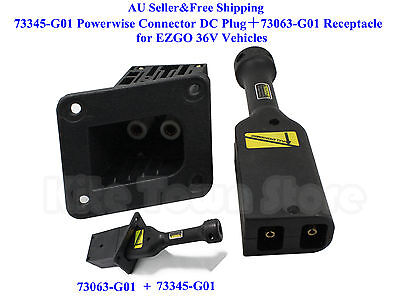 73345G01 Powerwise Connector DC Plug+73063-G01 Receptacle for EZGO 36V Vehicles