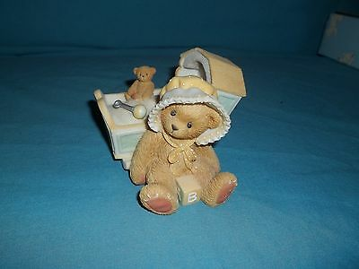 Cherished Teddies Awaiting The Arrival Baby Cradle #743801