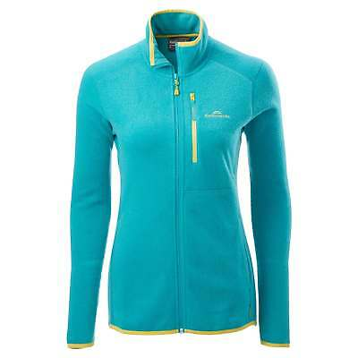 Kathmandu Disperse Womens Quick Dry Packaway Active Travel Fleece Jacket Blue