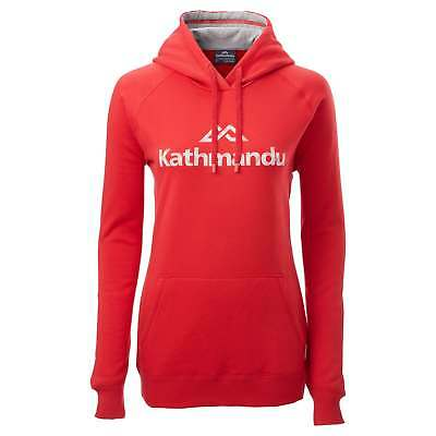 Kathmandu Womens Casual Hooded Pullover Longsleeve Hoodie Jumper Top v2 Red