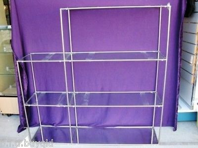 4 Shelf Metal Framed Shop Display Stand with Mirror Base