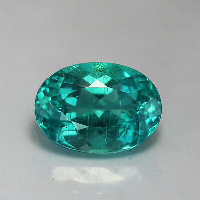 4.90 Cts-Oval Cut-Natural-Paraiba Bluish Green-Apatite-GE874