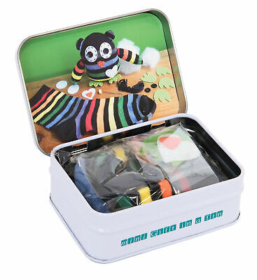 MINI GIFT IN A TIN - Micro Toys Kids Play Set Gift - Mini Sock Owl **NEW**