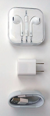 OEM Original Apple EarPods Wall Charger Lightning USB Cable For iPhone 6S 6 5S 5