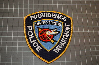 Providence Rhode Island Police Department Traffic Bureau Patch (B17-A)