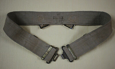 Ww2 British Army-Military Belt Canvas. I.f -1942