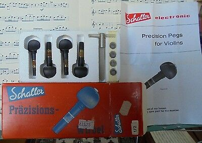 Schaller 'Precision' Violin Pegs - Half-size - won't slip - fit them yourself.
