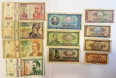 24 ROMANIA Banknotes 1966 including Polymer banknotes 1999 cheap offer