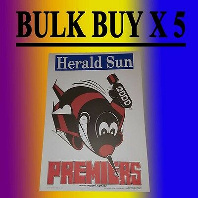 X 5 2000 Essendon Bombers Grand Final Premiers Premiership Weg Poster James Hird