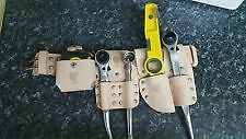 scaffolding leather  tool belt with 5pcs tool set uk branded
