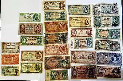 27 Magyar Hungary Pengo collection from WW2 WWII wonderful collection cheap