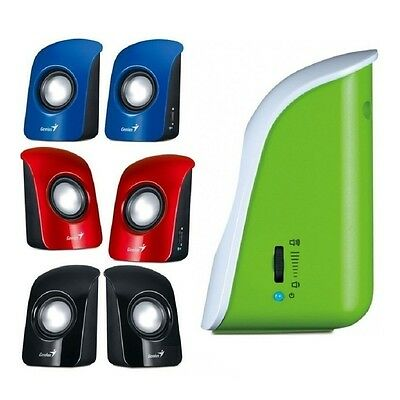Genius Sp-115 Usb Powered Multimedia Stereo Speakers For Pc Computer Laptop