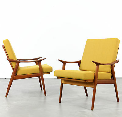 Set of Two Fredrik Kayser Easy Chairs, Produced by Vatne, Norway | 1960s