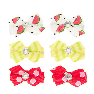Claire's Girls and Womens 6 Pack Fruity Mini Hair Clips