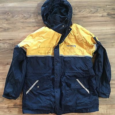 Cintas United Airlines Employee Reflective Hooded Ramp Jacket Extra Large XL