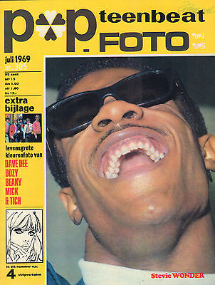 Stevie Wonder - Photo's + Articles  From Dutch Music Magazines 1969