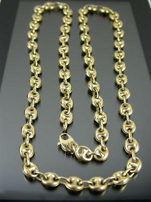 VINTAGE 9ct GOLD ANCHOR LINK CHAIN NECKLACE 24 inch