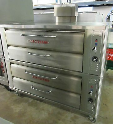 Blodgett Double Stack Natural Gas Stone Deck Pizza Ovens 961P
