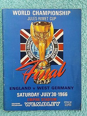 1966 - WORLD CUP FINAL PROGRAMME - ENGLAND v WEST GERMANY - ORIGINAL (a)