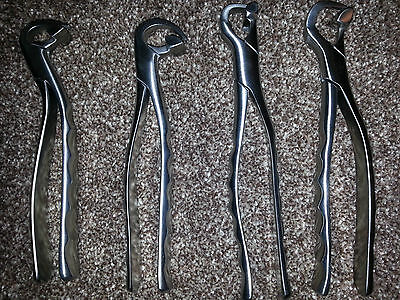 Physic Dental Extraction Forcep - Standard Series  Set of 4