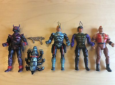 Sectaurs Vintage Figure Lot 5 Rambo Coleco Collection Spidrax Mad Dog Free Ship