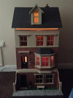 Decorated doll's house with basement