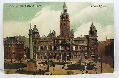 POSTCARD: Municipal Buildings Glasgow, Reliable Series, Unposted