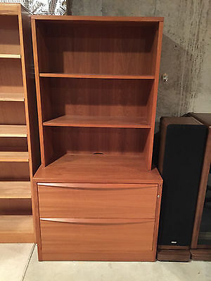 Large Jesper Teak Book Shelf with Large Filing Cabinet - Very Nice