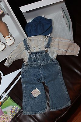 NEW in BOX Retired American Girl Kit's Hobo Bib Overalls Outfit with Hat NIB