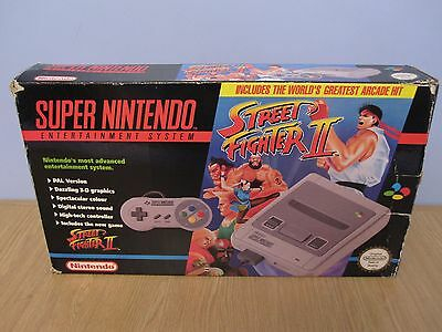 Nintendo Snes (Pal) Console Street Fighter Ii Version Boxed