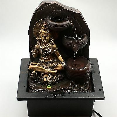 Lord Shiva Waterfall Fountain With LED light Indoor Home Decor Item
