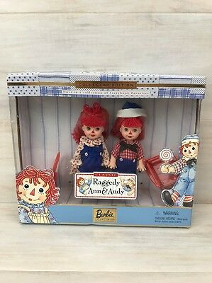 Barbie Collectibles Raggedy Ann and Andy Kelly Tommy Dolls 1999 Mattel