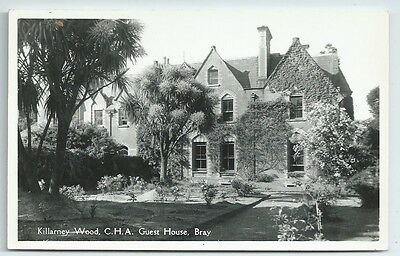 Vintage Postcard RP. Killarney Wood, C.H.A. Guest House, Bray. Unused. Ref:68382