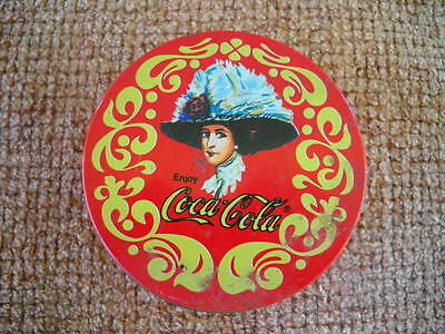Vintage Set of 5 Coca-Cola Coasters in Matching Tin