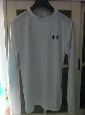 Tee Shirt Under Armour Manches Longues Blanc Neuf