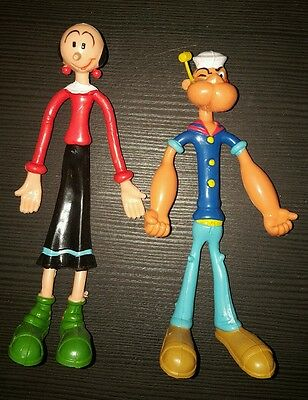 Vintage Popeye And Olive Oyl Bendables Bronco CD 1978 King