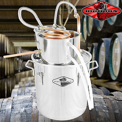 NEW 5 Gal Water Wine Alcohol Distiller Moonshine Still Boiler Stainless Copper #