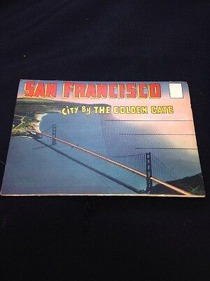 Vintage SAN FRANCISCO Souvenir Scenic Photo Fold-out The City by the Golden Gate