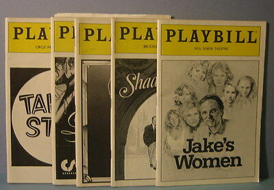 Vintage 1990's  Theatre Playbill 5  Program Collection  Jakes Women Taking Steps