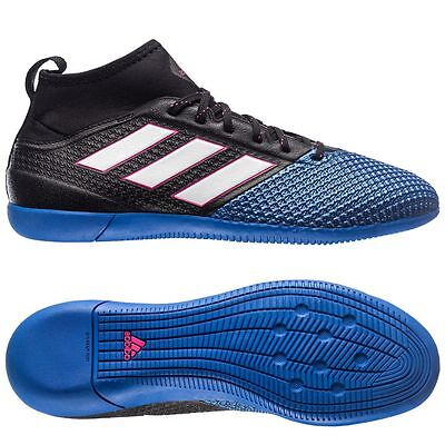 adidas Ace 17.3 Primemesh IN Indoor 2017 Soccer Shoes Black / Blue Kids - Youth