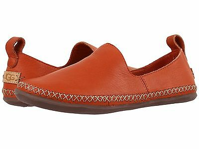 Women's Shoes UGG Delfina Wool Lined Leather Slippers 1014871 Fire Opal *New*