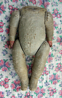 "Antique Doll Body 12"" Tall - Missing Head"