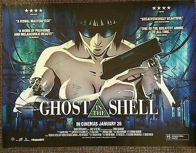 Ghost in the shell. quad cinema poster. Manga anime