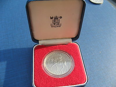 "Elizabeth II ""Silver Jubilee"" Crown 1977. Cased."